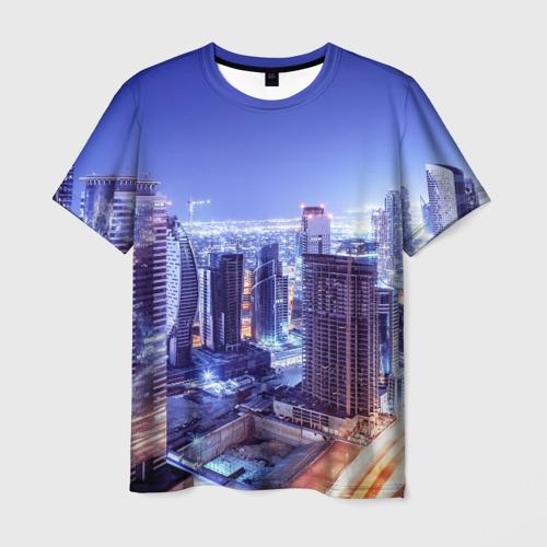 Мужская футболка 3D Ночной Дубай