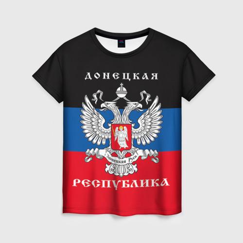 Женская футболка 3D Донецкая республика