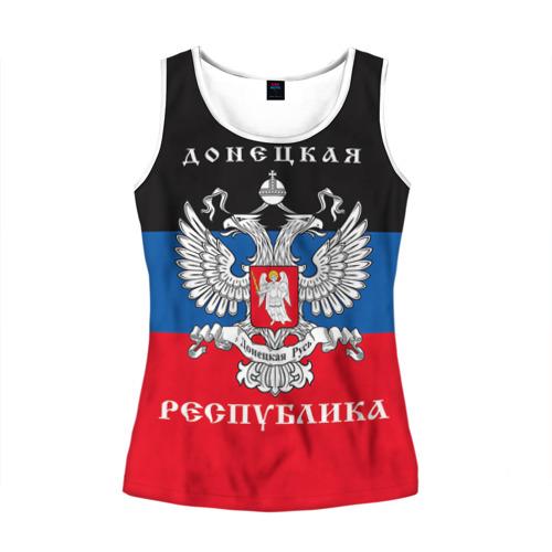 Женская майка 3D Донецкая республика