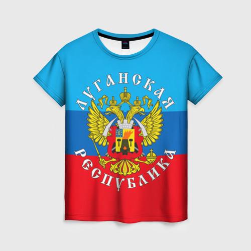Женская футболка 3D Луганская республика