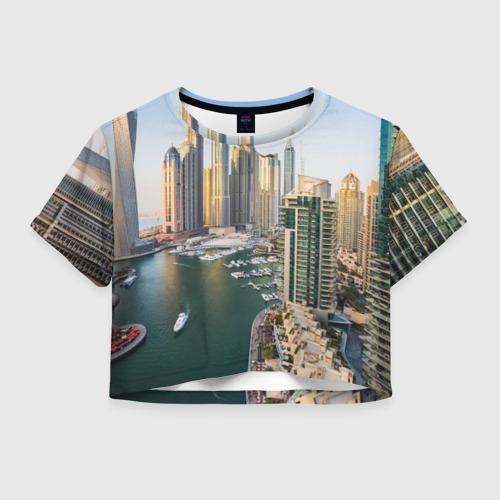 Женская футболка Crop-top 3D Dubai