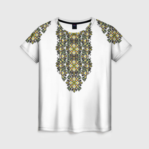 Женская футболка 3D Вышивка 11