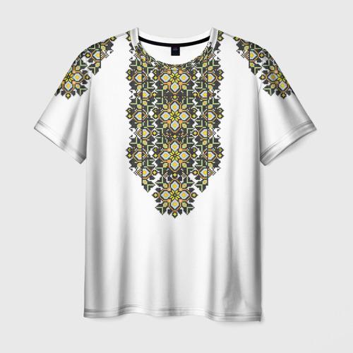 Мужская футболка 3D Вышивка 11