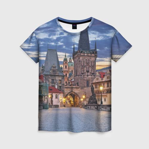 Женская футболка 3D Прага