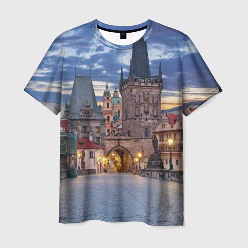 Мужская футболка 3D Прага