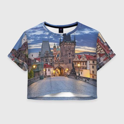 Женская футболка Crop-top 3D Прага