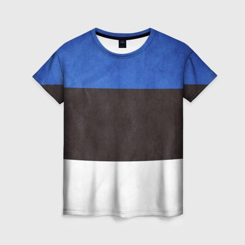 Женская футболка 3D Эстония