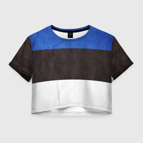 Женская футболка Crop-top 3D Эстония