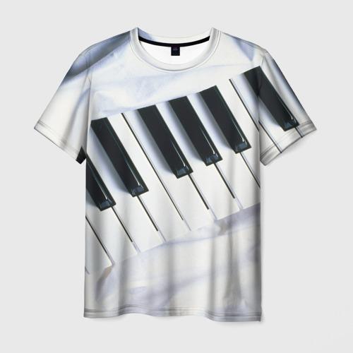 Мужская футболка 3D Клавиши
