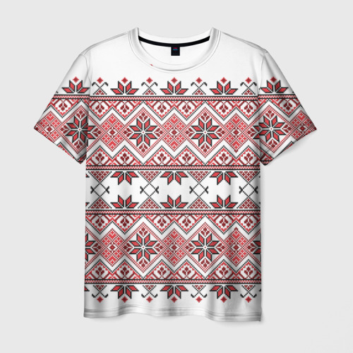 Мужская футболка 3D Вышивка 42