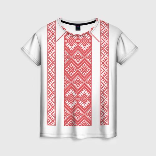 Женская футболка 3D Вышивка 46