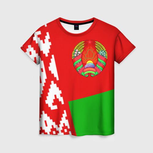 Женская футболка 3D Беларусь 2