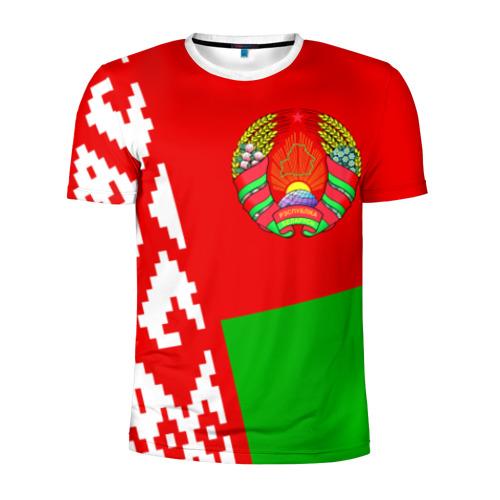 Мужская футболка 3D спортивная Беларусь 2