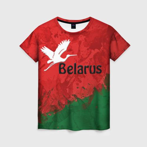 Женская футболка 3D Belarus 2