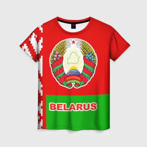Женская футболка 3D Belarus 5