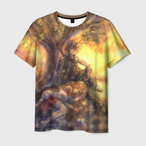 Мужская футболка 3D Древо
