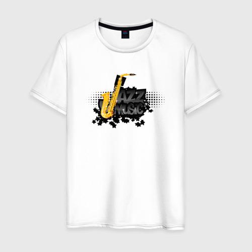 Мужская футболка хлопок Jazz music «Джаз музыка»
