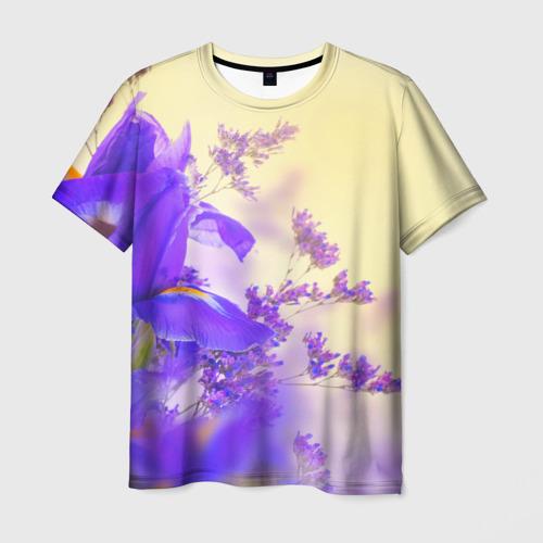 Мужская футболка 3D Цветы