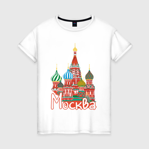 Женская футболка хлопок Москва