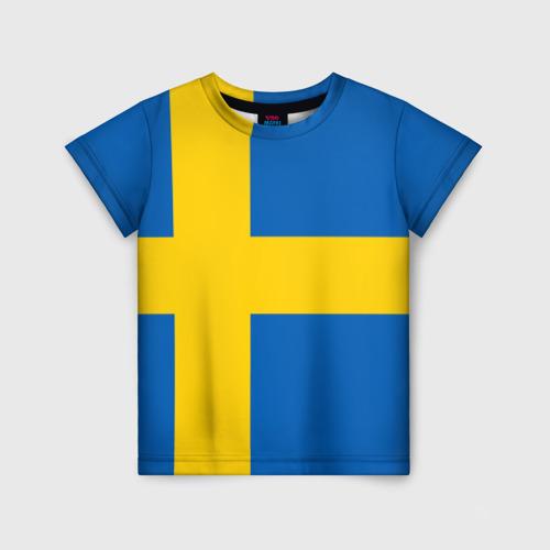 Детская футболка 3D Швеция