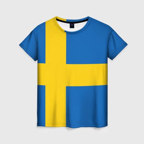 Женская футболка 3D Швеция