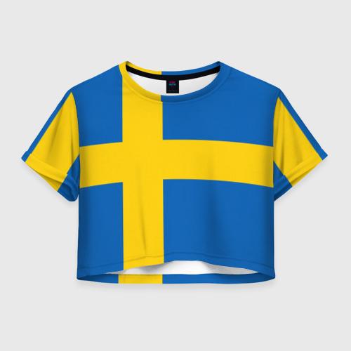 Женская футболка Crop-top 3D Швеция