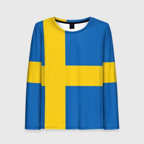 Женский лонгслив 3D Швеция