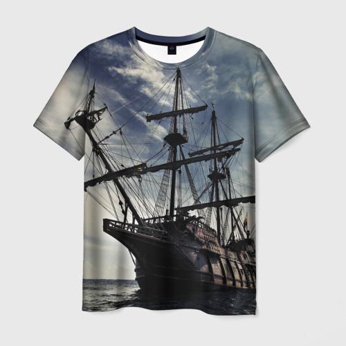 Мужская футболка 3D Корабль