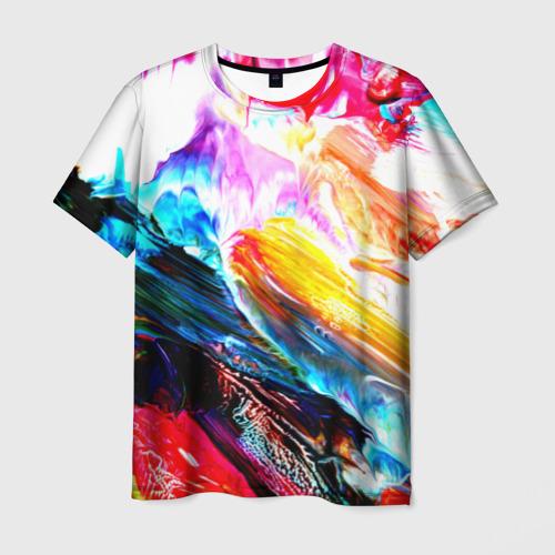 Мужская футболка 3D Абстракция красок