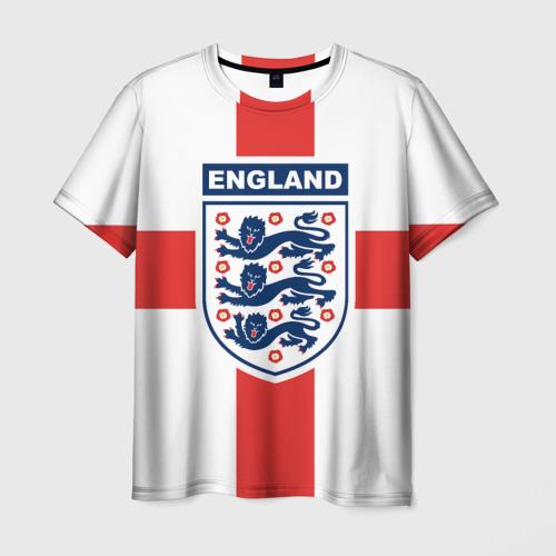 Мужская футболка 3D Сборная Англии