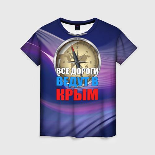 Женская футболка 3D Крым