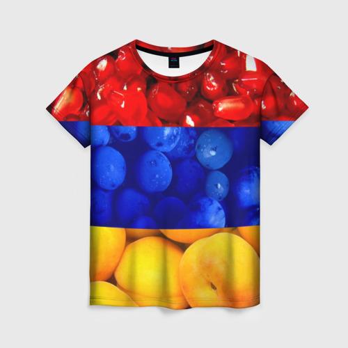 Женская футболка 3D Флаг Армении