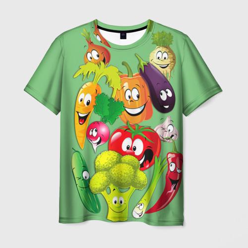 Мужская футболка 3D Правильное питание