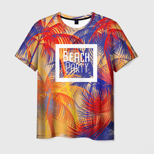 Мужская футболка 3D Beach Party