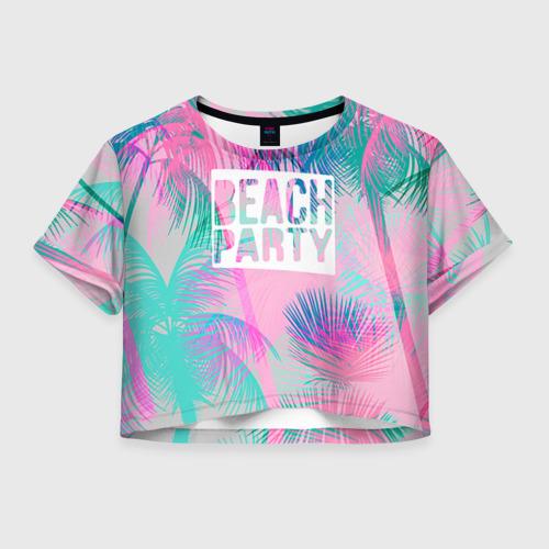 Женская футболка Crop-top 3D Beach Party 2