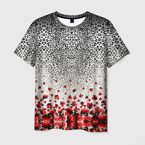 Мужская футболка 3D Roses