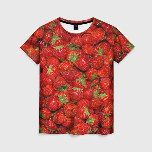 Женская футболка 3D Клубнички