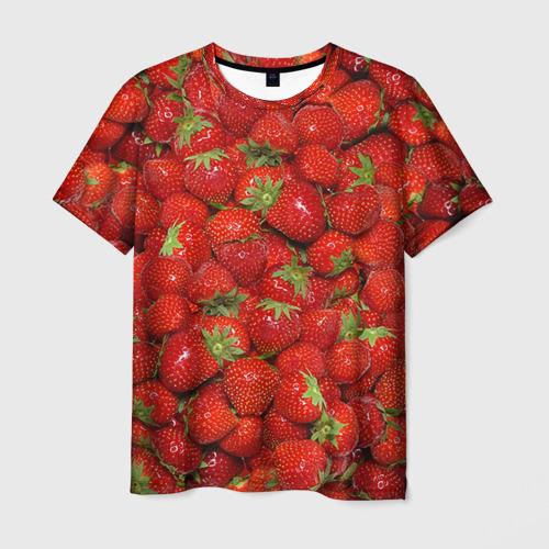 Мужская футболка 3D Клубнички