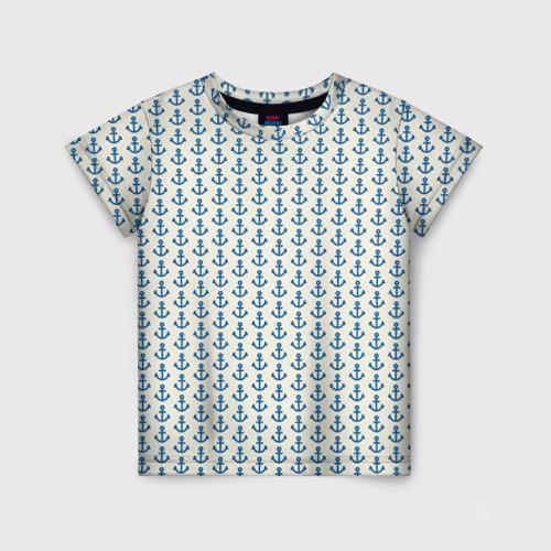 Детская футболка 3D Якоря