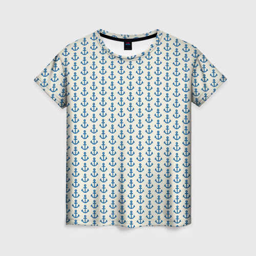 Женская футболка 3D Якоря