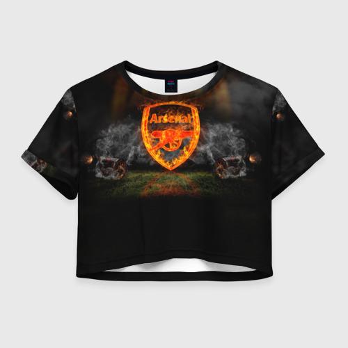 Женская футболка Crop-top 3D Arsenal FC. Gunners