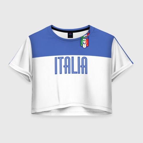 Женская футболка Crop-top 3D Сборная Италии по футболу