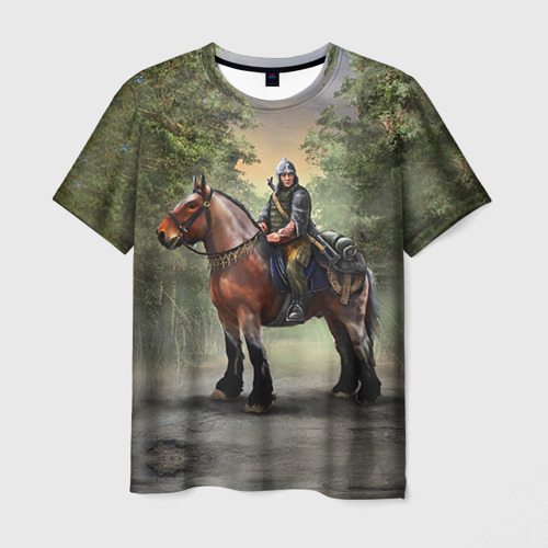 Мужская футболка 3D Конь. Русь