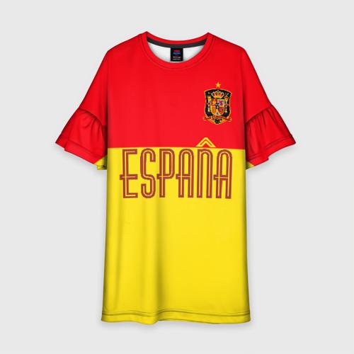 Детское платье 3D Сборная Испании по футболу