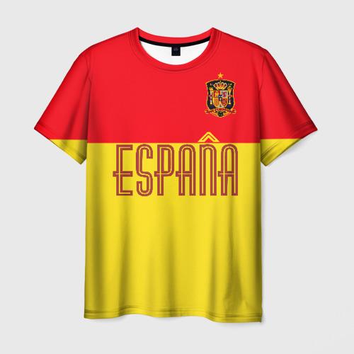 Мужская футболка 3D Сборная Испании по футболу