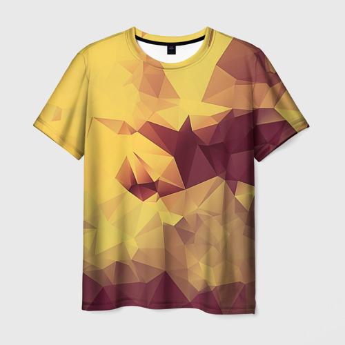 Мужская футболка 3D Polygonal