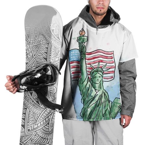 Накидка на куртку 3D Статуя свободы