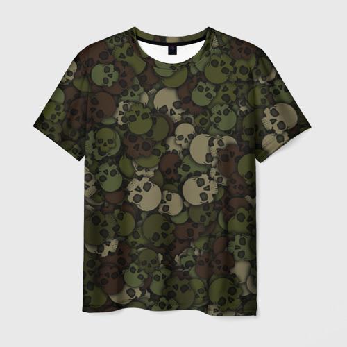 Мужская футболка 3D Черепа. Камуфляж