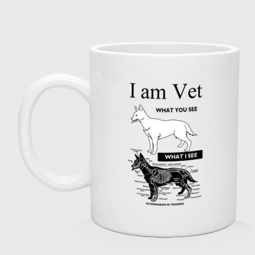 Кружка керамическая I Am Vet