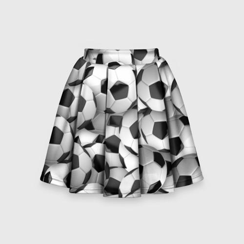 Детская юбка-солнце 3D Футбольные мячи